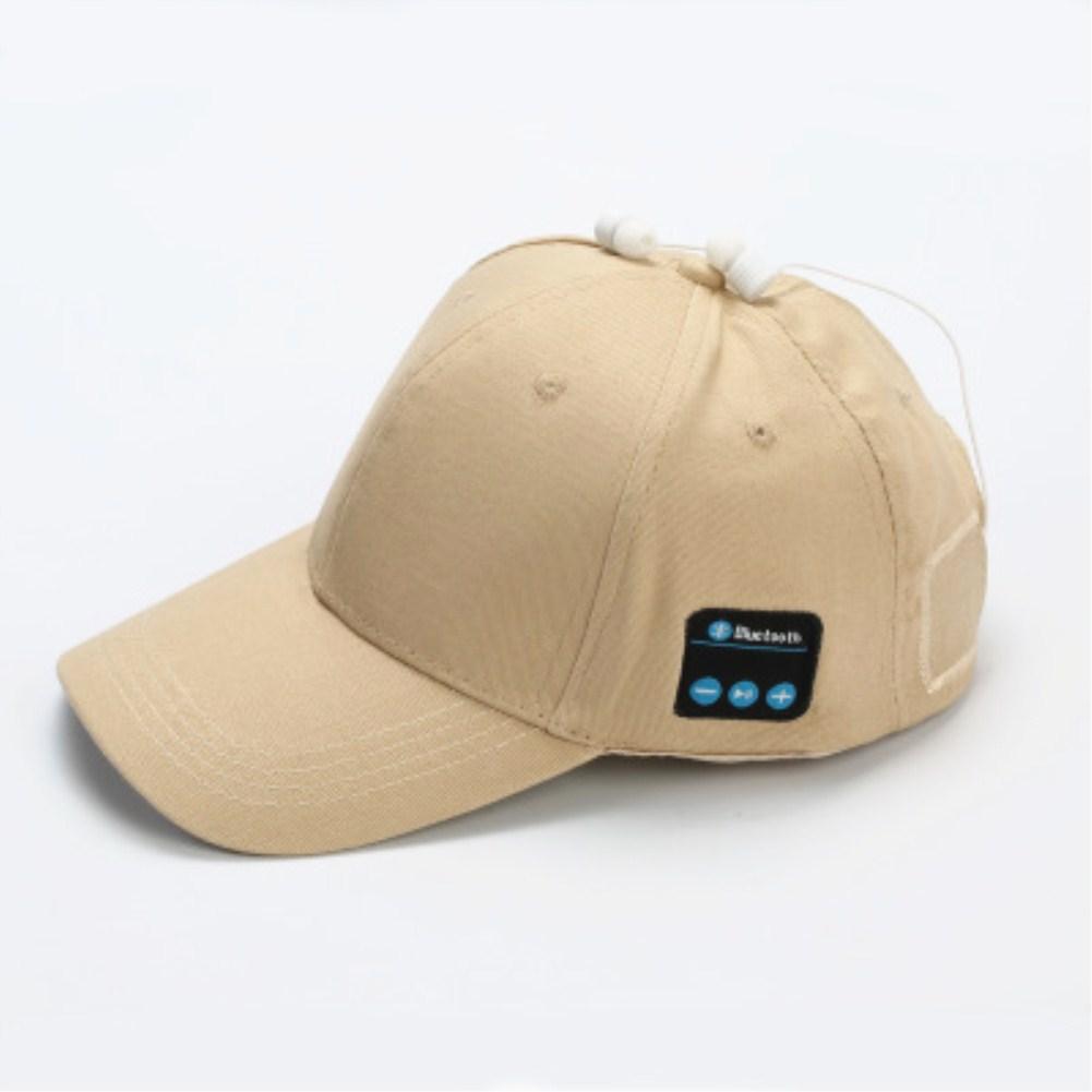 Wireless Bluetooth Earphones Sport Music Cal Baseball Cap Ourdoor Headset Khaki