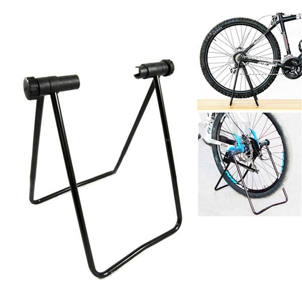 Multifunction Bicycle Stand, Adjustable Width, Folding Repair Rack Bike Wheel Hub Stand for Bicycle Storage  black