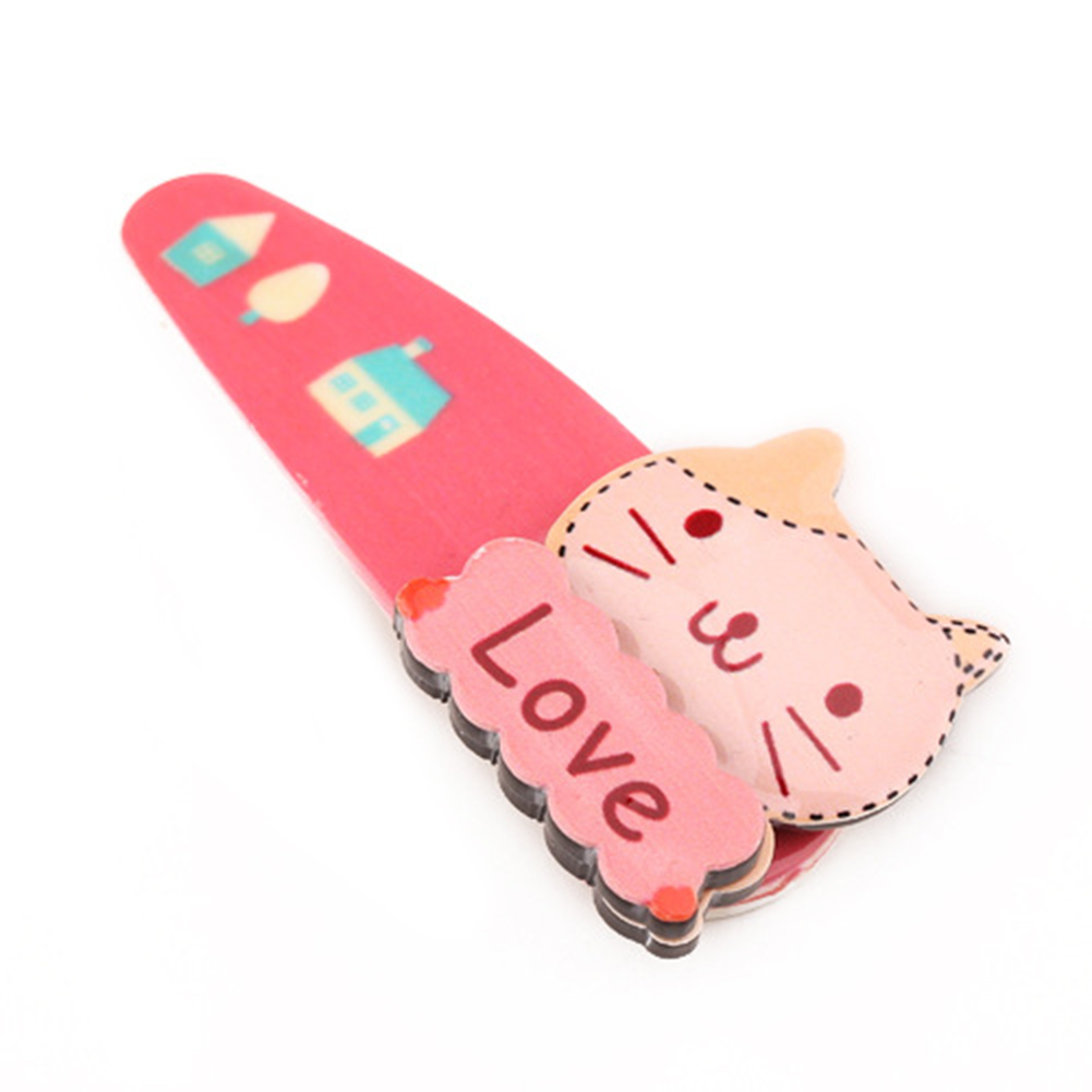 Baby Girls Cute Cartoon Hair Clip Fashion Headwear Hair Accessories as Gifts for Toddlers Cat - Watermelon Red