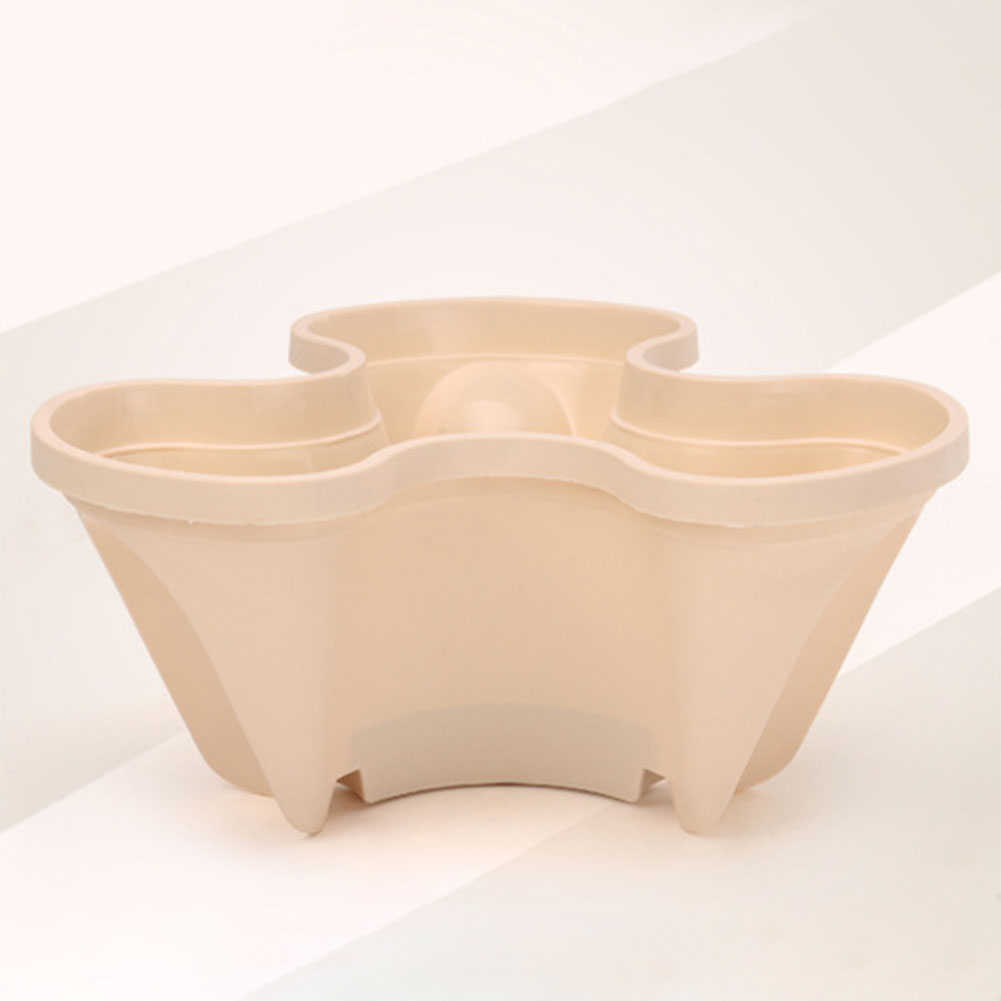 Stack-up Type Stereoscopic Flowerpot Strawberry Plant Pot for Flower Vegetables Decoration apricot
