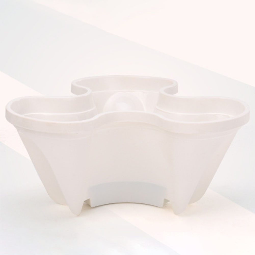 Stack-up Type Stereoscopic Flowerpot Strawberry Plant Pot for Flower Vegetables Decoration white