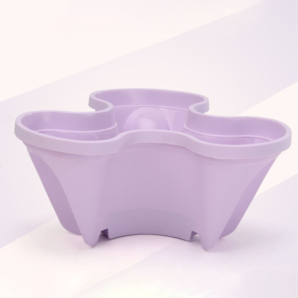 Stack-up Type Stereoscopic Flowerpot Strawberry Plant Pot for Flower Vegetables Decoration purple
