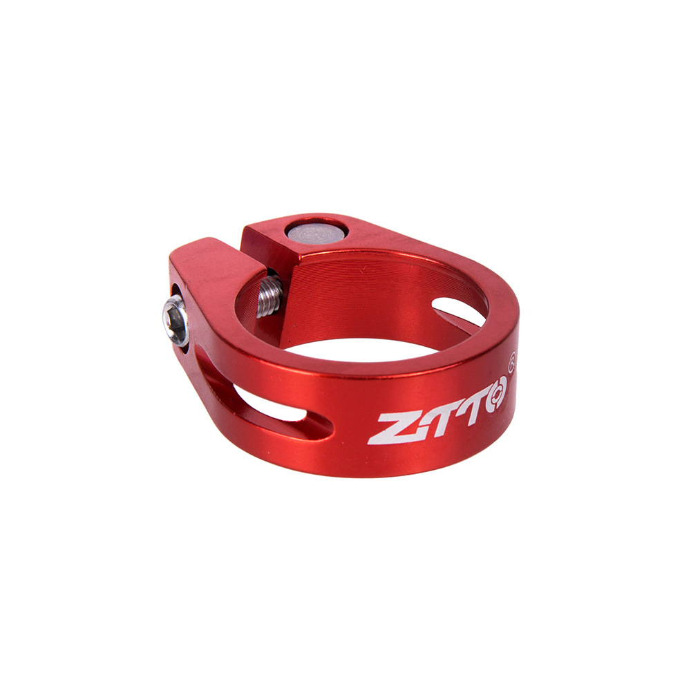 Mountain Bicycle Pipe Clamp Locks Fixed Gear 31.8/34.9mm Seat Screw Lock Clamp Red 34.9MM