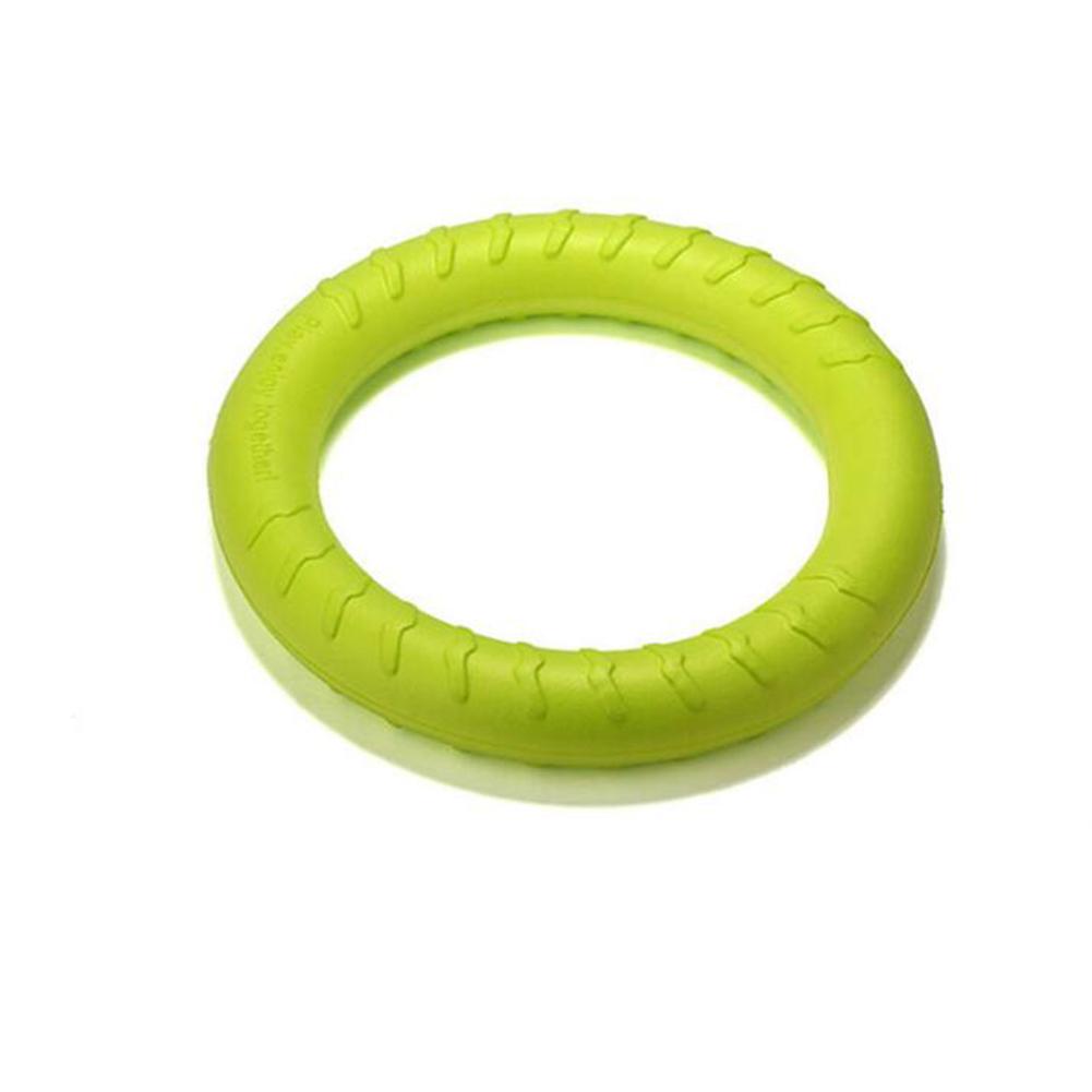 Bite Resistant Teeth Cleaning Flying Ring for Pet Dog German Shepherd Training Fluorescent green