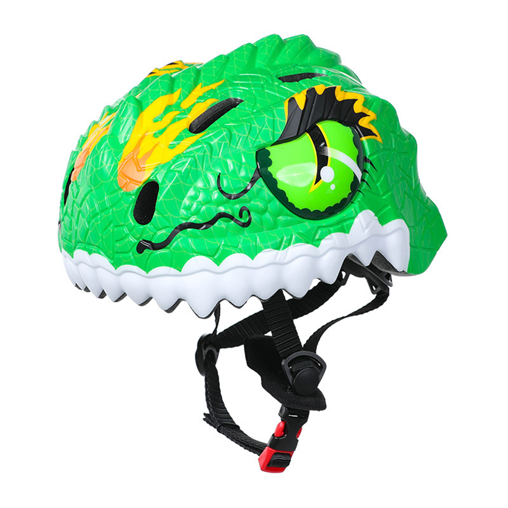 Children's Helmets 3d Animal Adjustable Breathable Hole Safety Helmet For Bicycle Scooter Various Sports green_One size