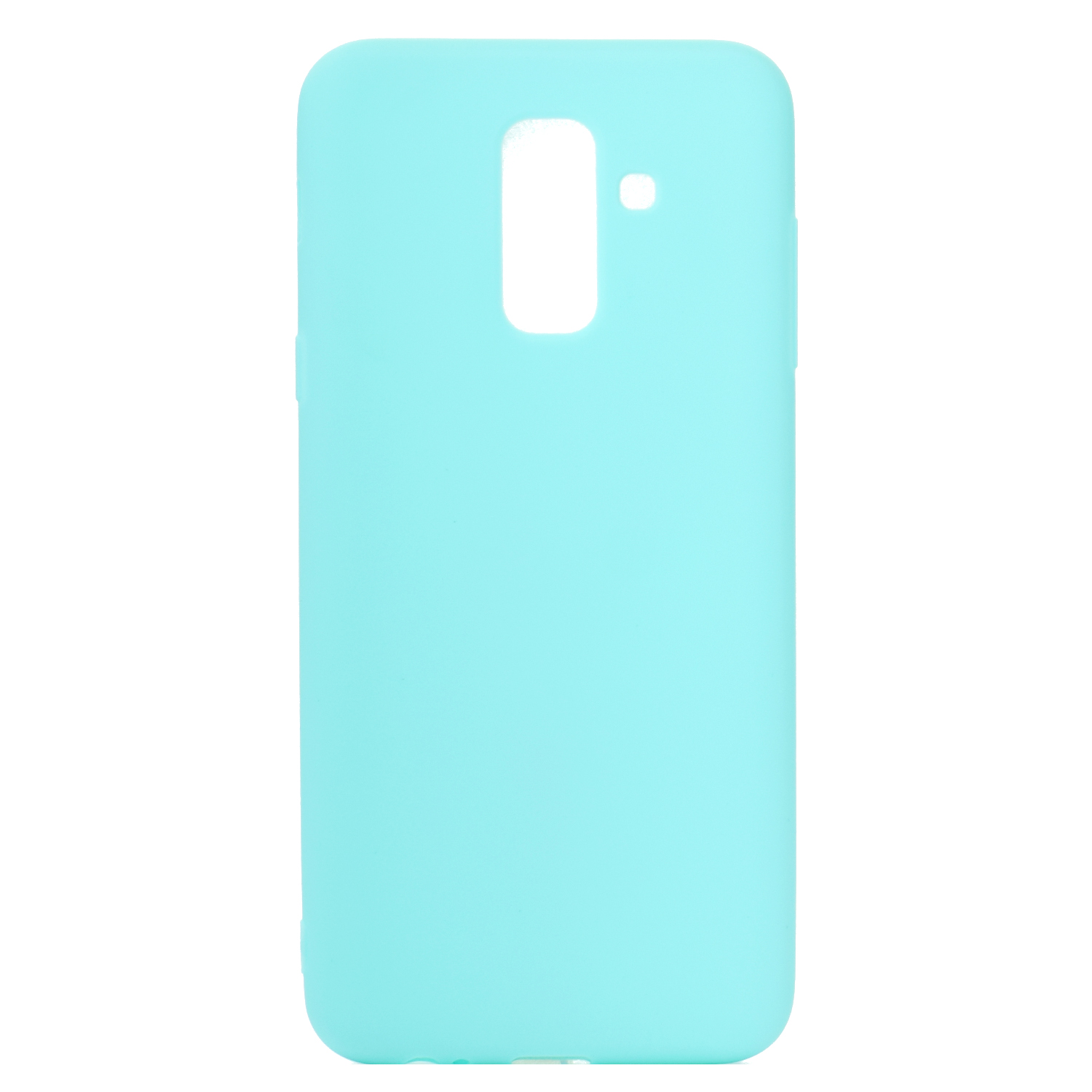 for Samsung A6 plus 2018 Lovely Candy Color Matte TPU Anti-scratch Non-slip Protective Cover Back Case Light blue