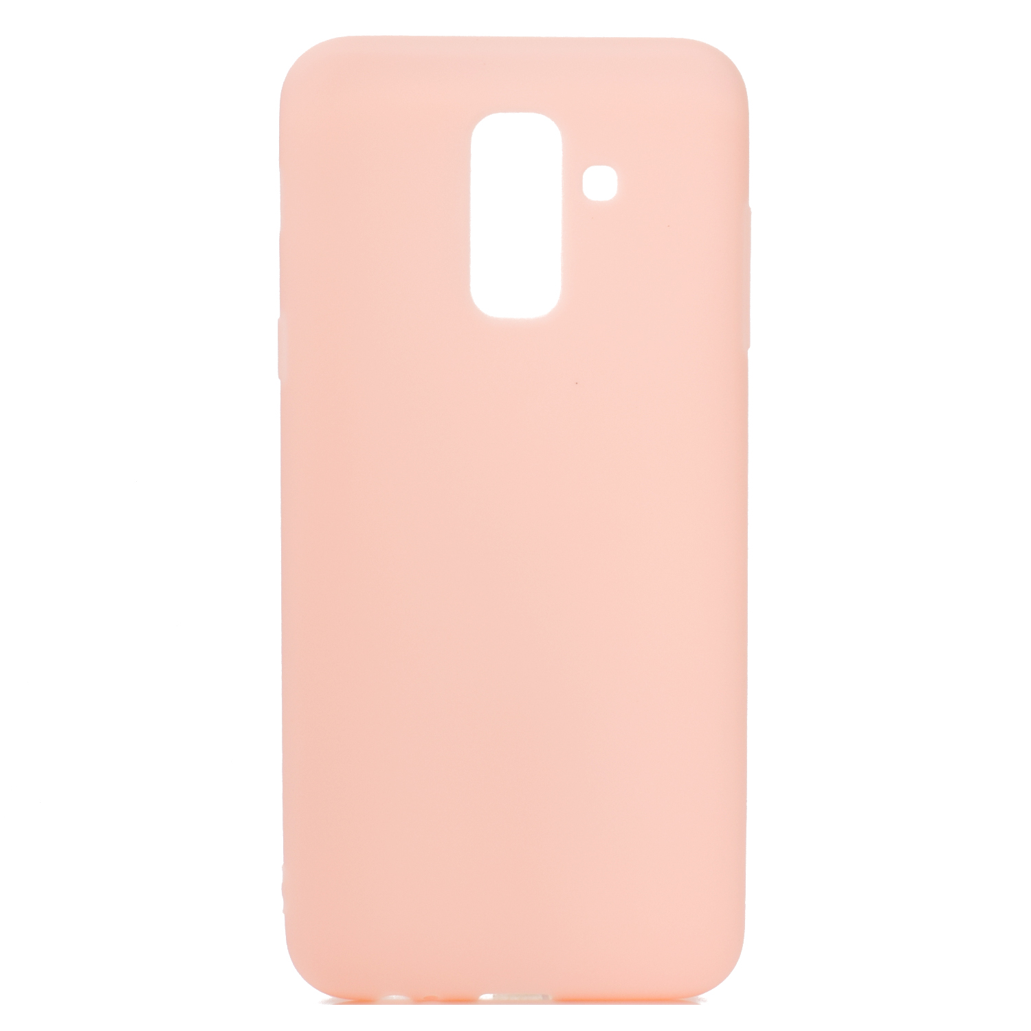 for Samsung A6 plus 2018 Lovely Candy Color Matte TPU Anti-scratch Non-slip Protective Cover Back Case Light pink