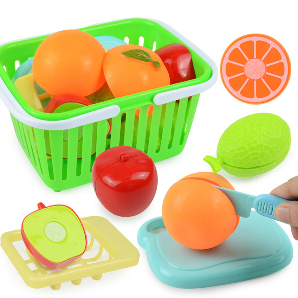 7 Pcs/set Simulation  Fruit  Food  Set Sliced-in-half Fruit Model Early Educational Toys For Kids Random Color