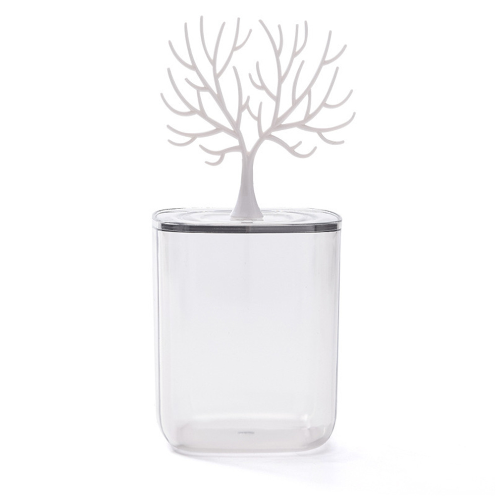 Desktop Storage  Box With Transparent Lid Tree  Shaped Table Organizer Antlers_9*13.5