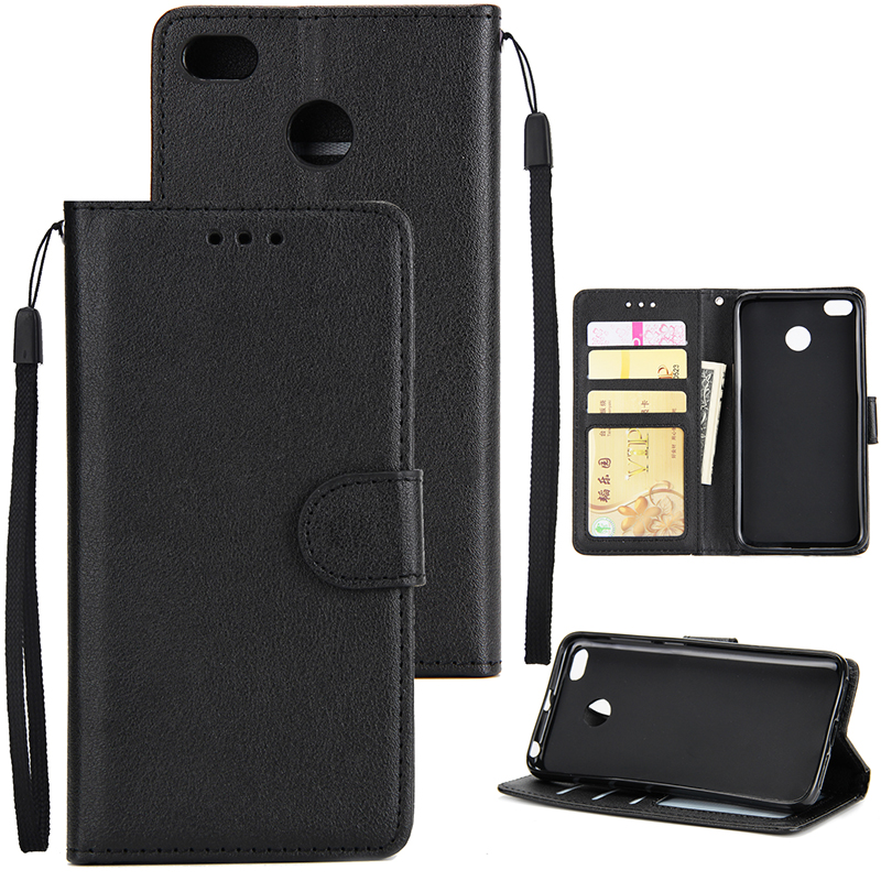 Ultra Slim Shockproof Full Protective Case with Card Wallet Slot for Xiaomi Redmi 4X black