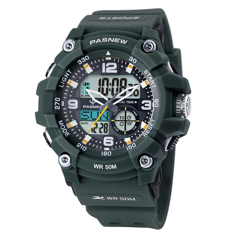 Male Multifunctional Waterproof Digital Casual Watch Christmas Birthday Gift Outdoor Wristwatch