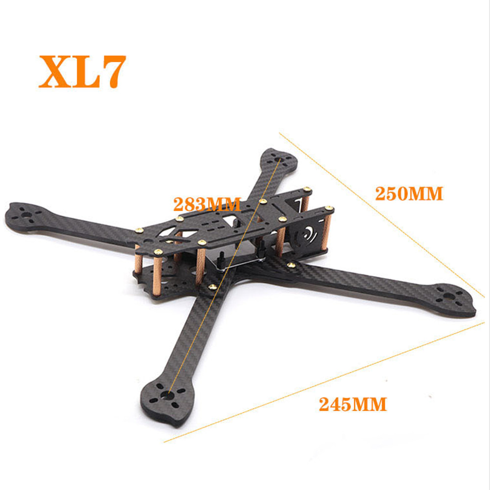 HSKRC XL5/6/7/8/9 232/283/294/360/390mm Carbon Fiber FPV Raicng Frame Kit for RC Drone 294MM KSX3699
