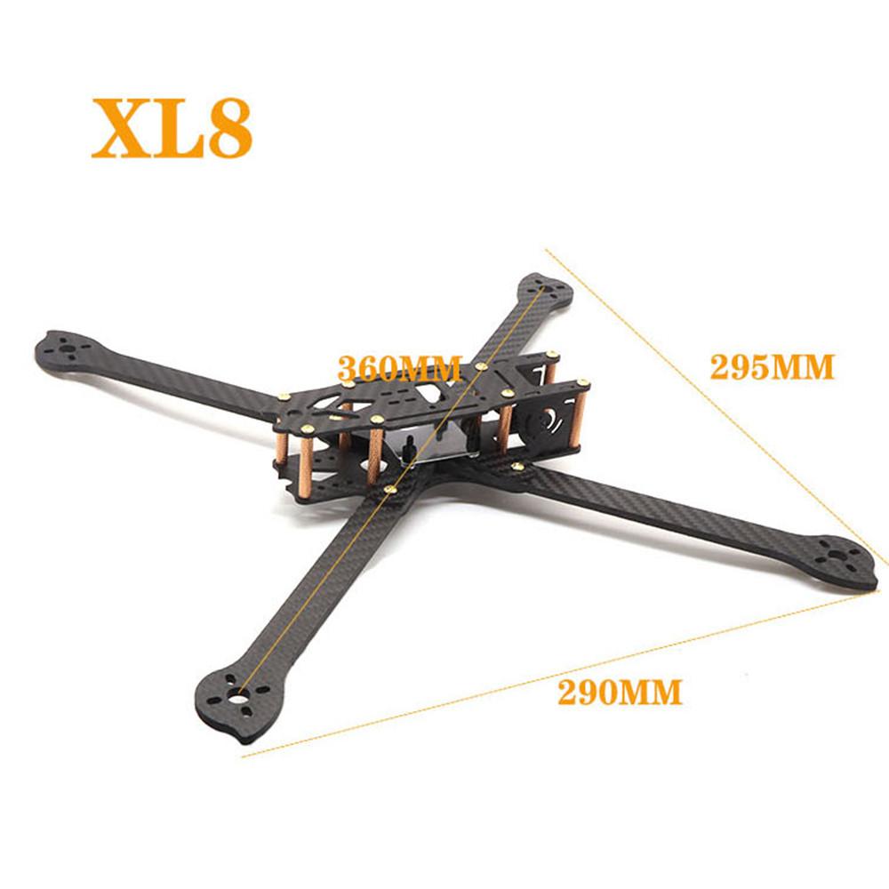 HSKRC XL5/6/7/8/9 232/283/294/360/390mm Carbon Fiber FPV Raicng Frame Kit for RC Drone 360MM KSX3700