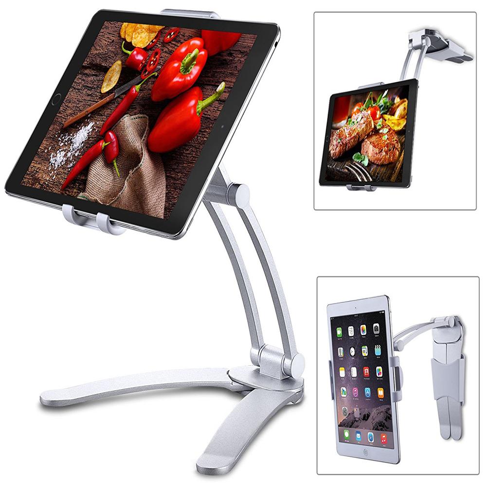 Kitchen Apple iPad Holder Wall Mount -Silver