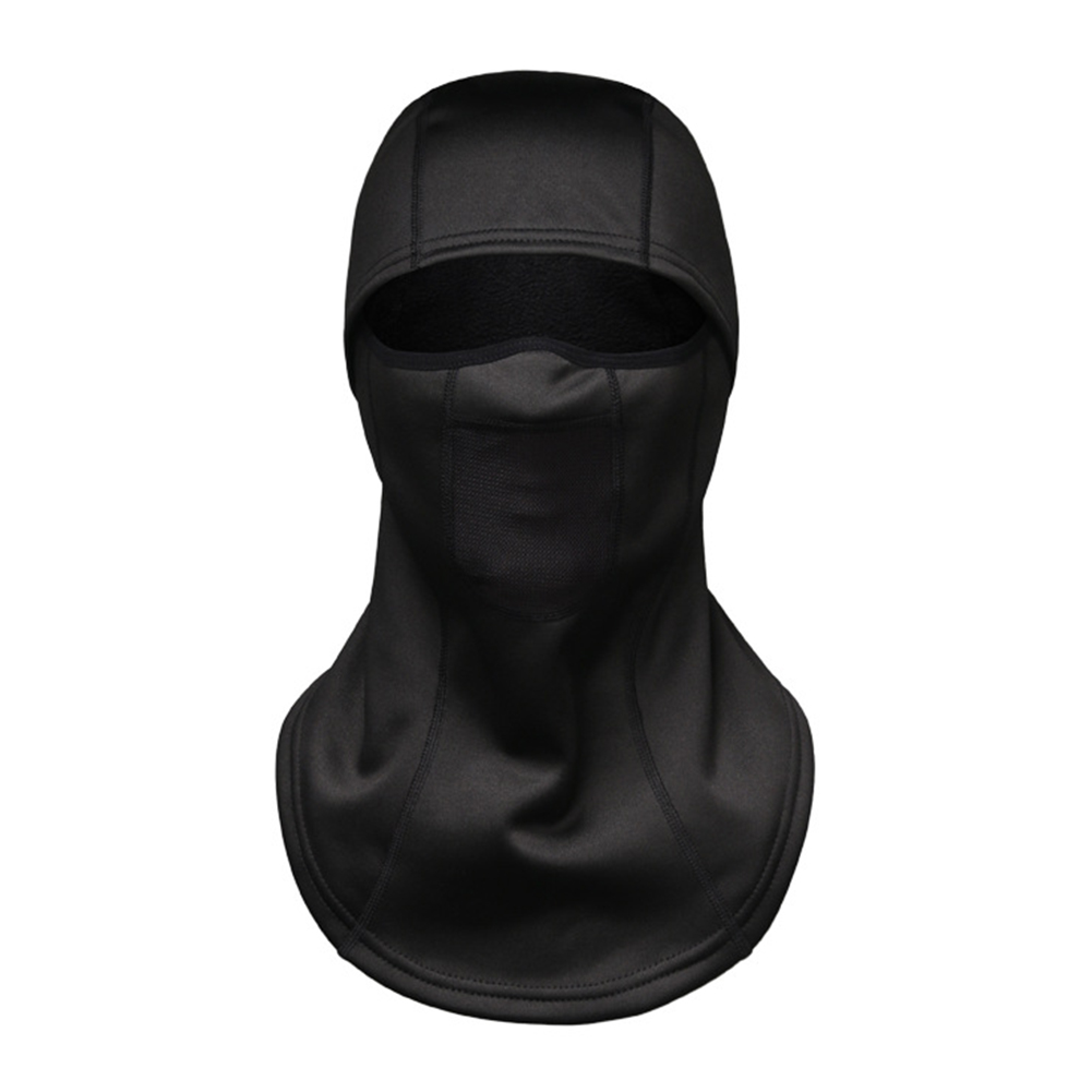 Winter Thermal Fleece Full Face Mask Warmer Cycling Hood Liner Sports Ski Bicycle Hat Cap black_One size