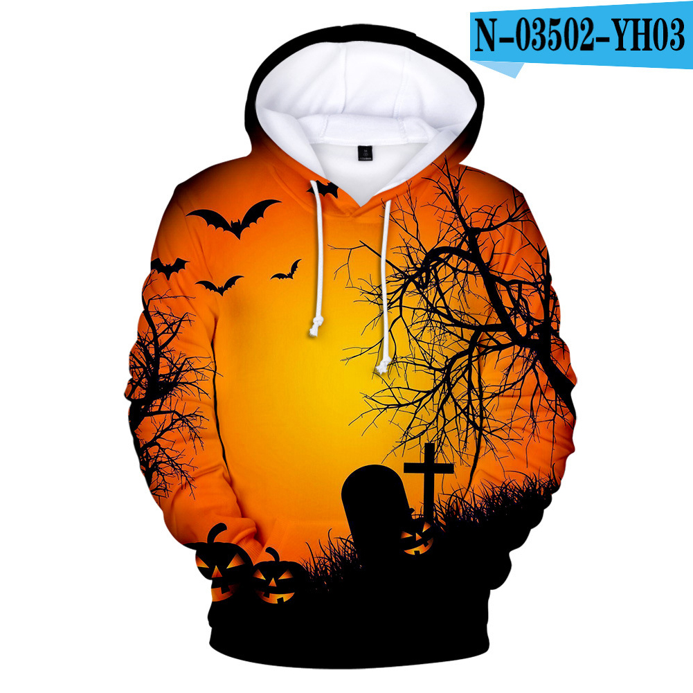 Men Women Halloween Darkness 3D Printing Hooded Sweatshirts N-03502-YH03 D style_L