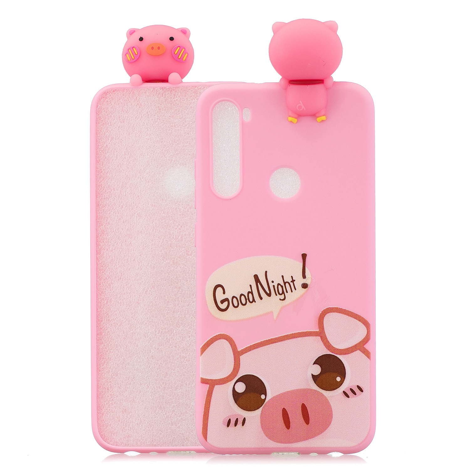 For Redmi 8/8A/5/Note 8T Mobile Phone Case Cute Cellphone Shell Soft TPU Cover with Cartoon Pig Duck Bear Kitten Lovely Pattern Rose