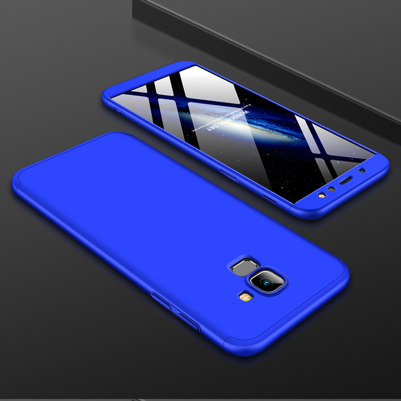 For Samsung A6 2018 360 Degree Protective Case Ultra Thin Hard Back Cover blue