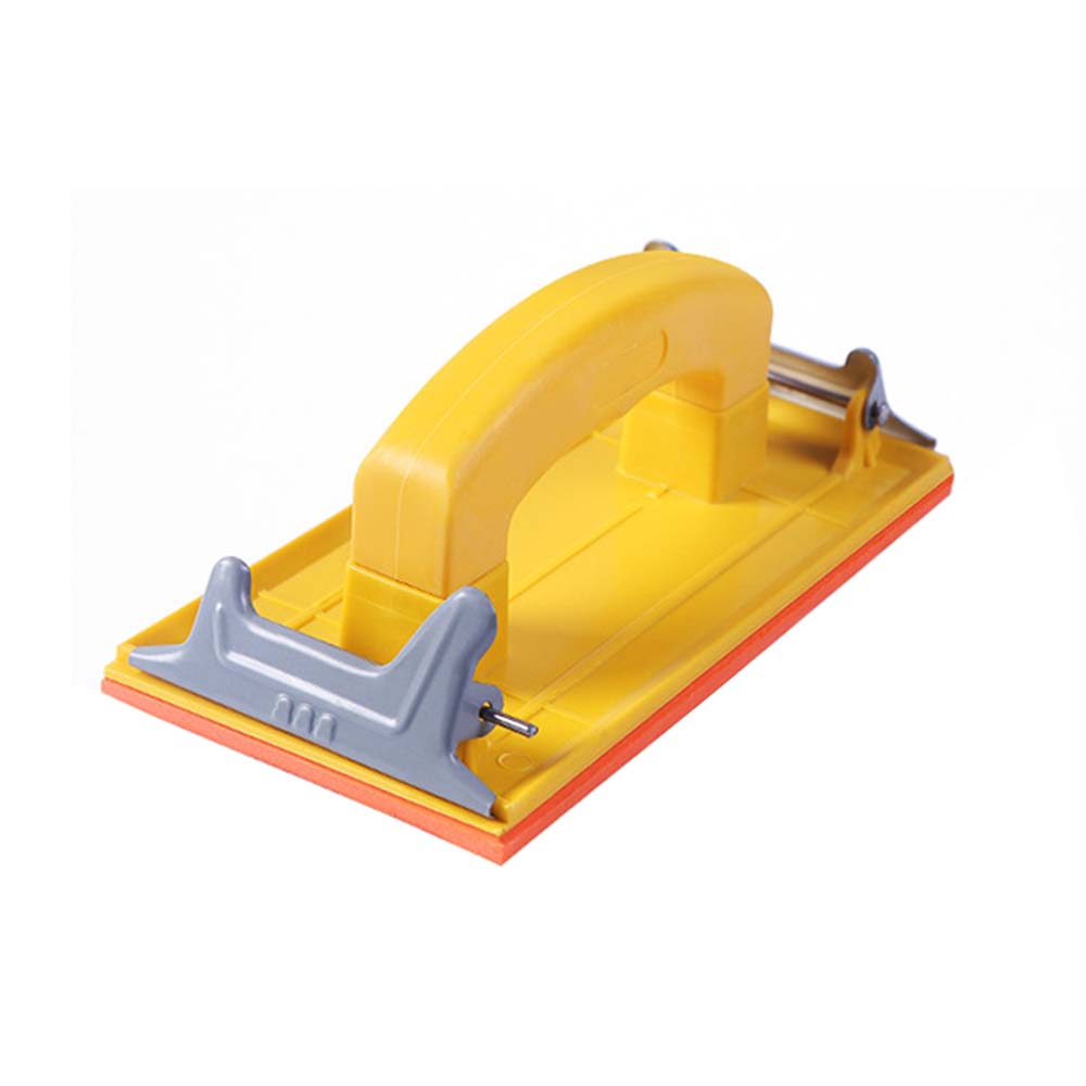 Wet and Dry Hand Grip Sandpaper Holder Grinding Polished Tools for Polishing Walls Sanding Woodworking yellow