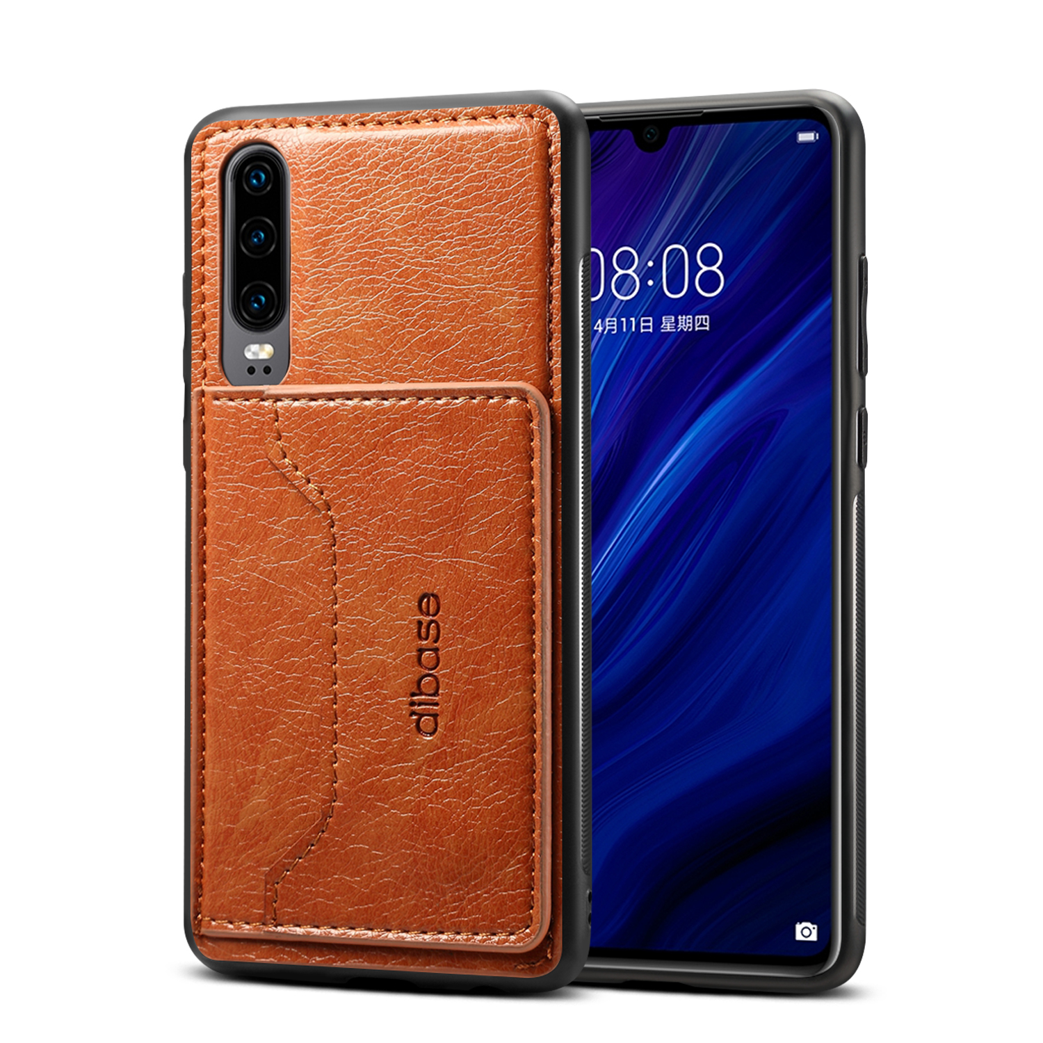 For Samsung A50 Retro PU Leather Wallet Card Holder Stand Non-slip Shockproof Cell Phone Case brown