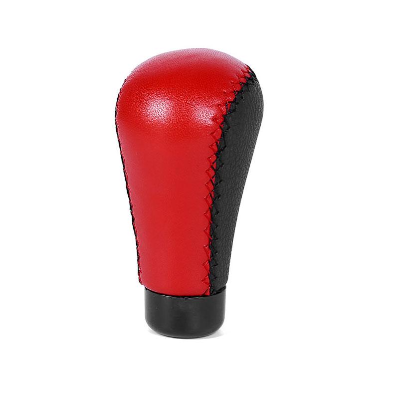 Universal Car Shift Head Modified Foreskin Manual TransmissionShift Handball Black red