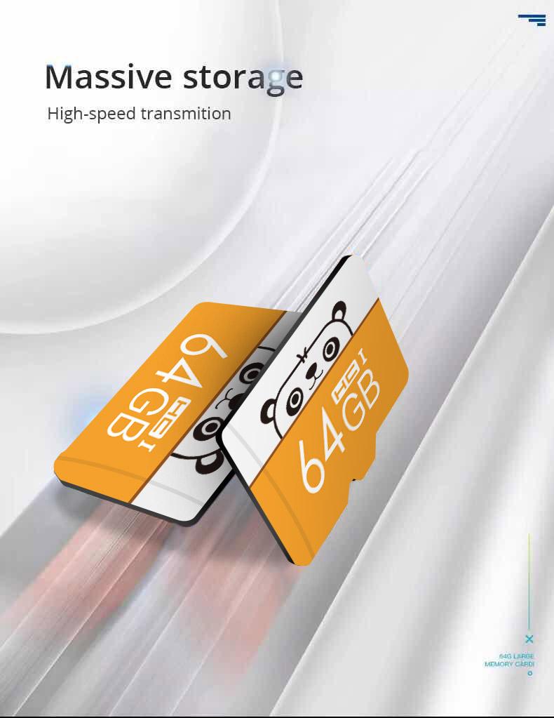 Cartoon 32GB 64GB 128GB Micro SD Card Memory Card Flash Memory Microsd