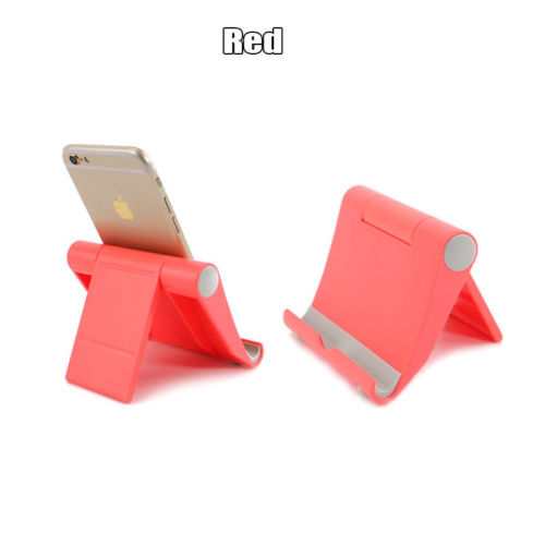 Universal Adjustable Portable Desk Tablet Stand Holder for All Smart-Phone iPad Air red
