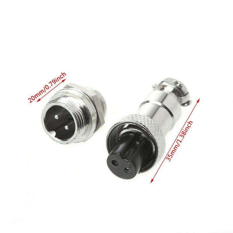 5Pair GX12mm 2-12Pin Female Male Connector Plug Socket Metal Aviation Plug GX12mm 2p