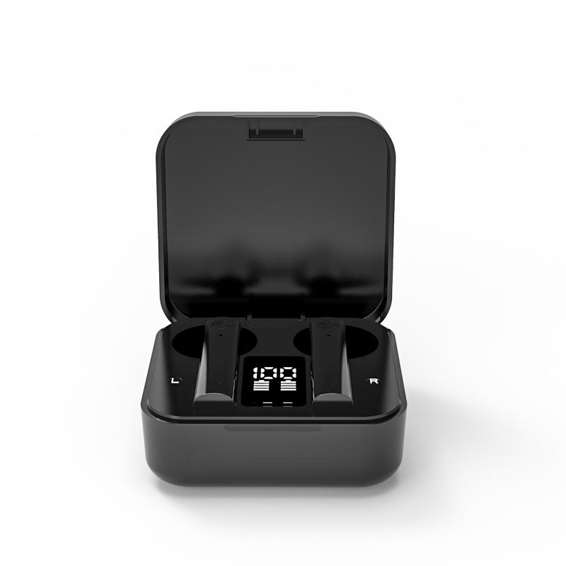 Air2S Bluetooth Headset Mini Wireless 5.1 Fingerprint Touch Earphones black