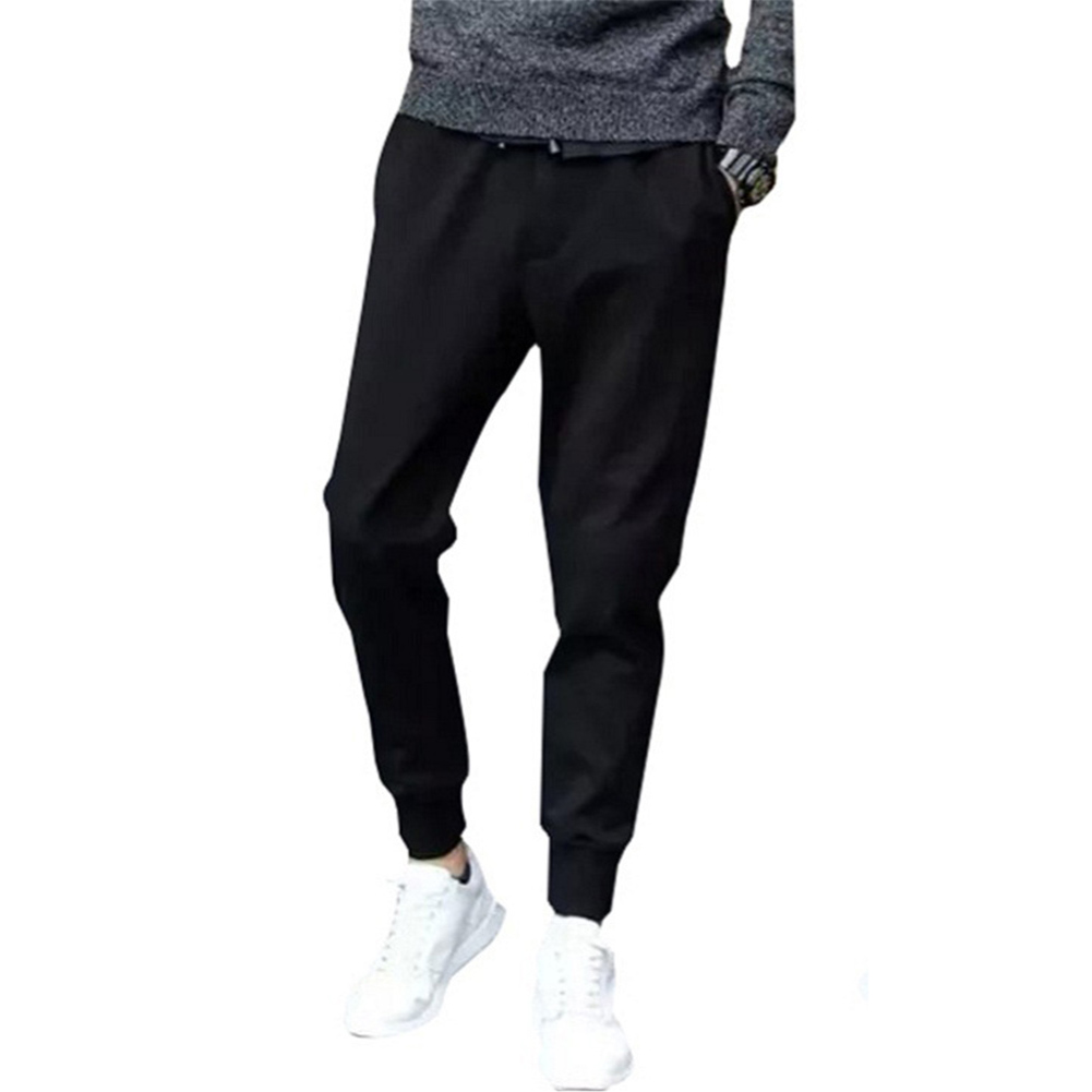 Men Fashion Casual Ninth Pants for Sports  Leather rope_L