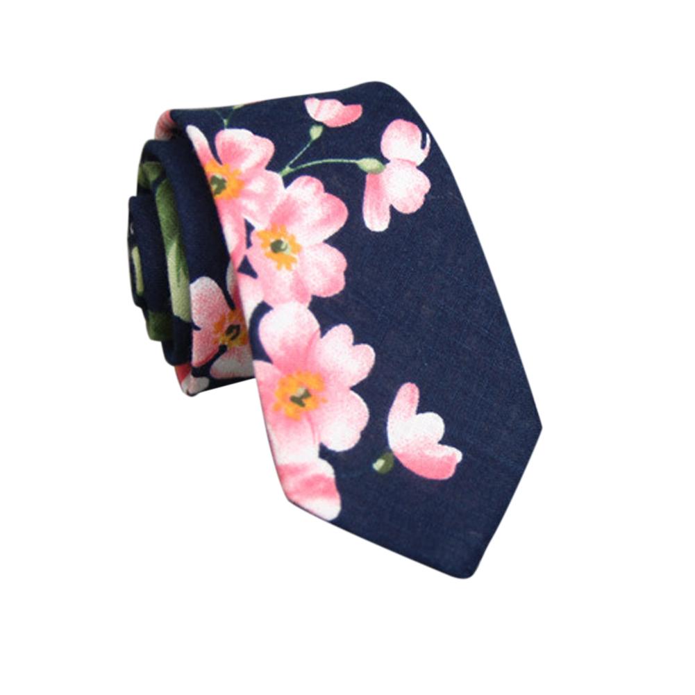 Men's Wedding Tie Floral Cotton Necktie Birthday Gifts for Man Wedding Party Business Cotton printing-046