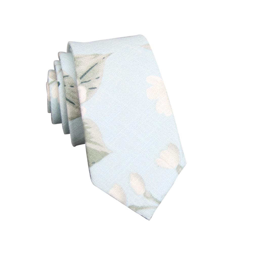 Men's Wedding Tie Floral Cotton Necktie Birthday Gifts for Man Wedding Party Business Cotton printing-048