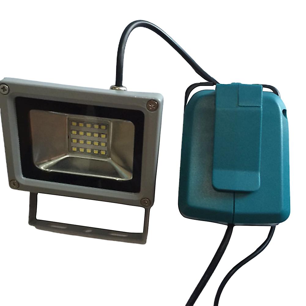 USB Power Charger Adapter Converter + 10W LED Light for MAKITA ADP05 18V 14.4V Lithium Battery blue