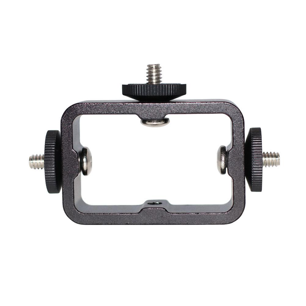 Camera Holder Bracket Three-position Clip Mobile Phone Holder Multi-position Rack Black