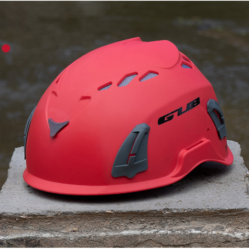 Climbing Helmet Professional Mountaineer Rock MTB Helmet Safety Protect Outdoor Camping Hiking Riding Helmet Red (56cm-62cm)