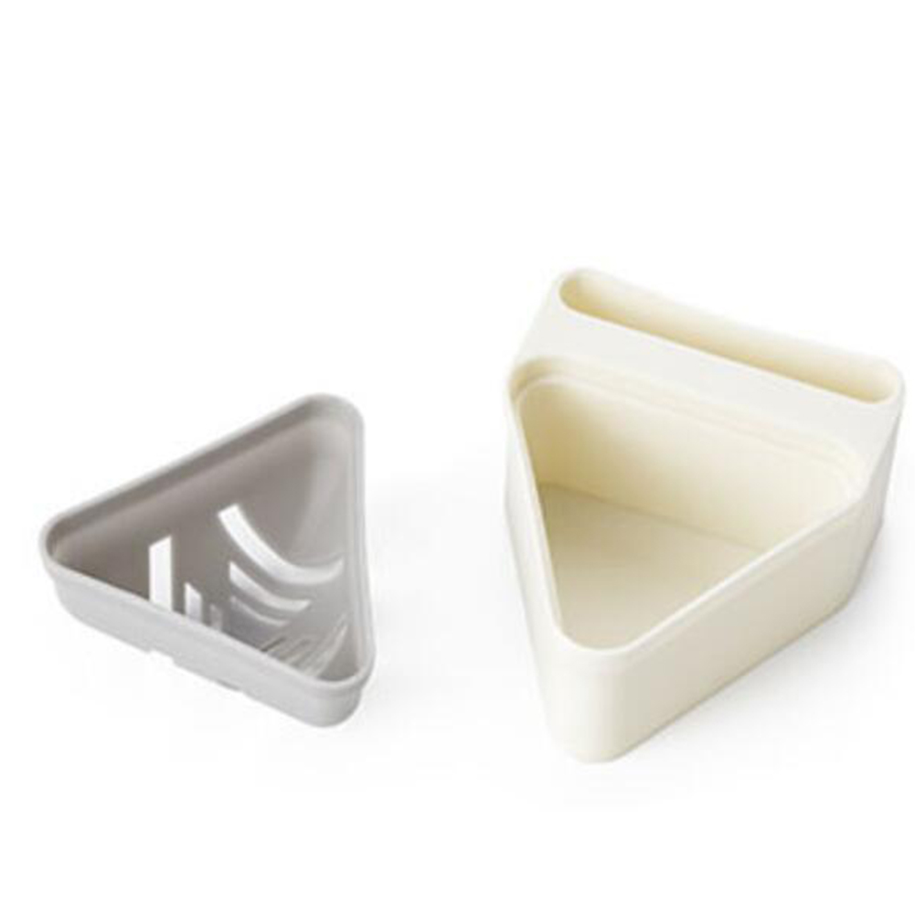 Beauty Sponge Stand Storage Case Makeup Puff Holder Empty Cosmetic triangle Shaped Rack Puffs Drying Box White+grey