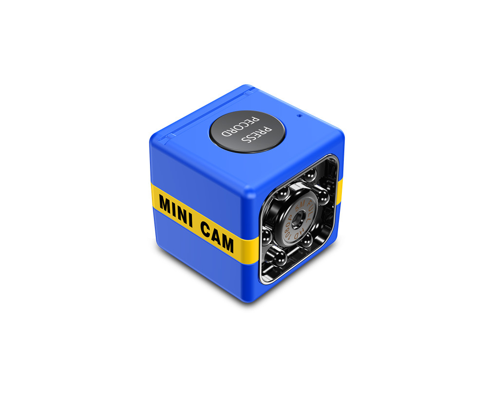 FX01 Mini Camera SQ11 SQ8 HD Outdoor Sports Camcorder for Aerial Photo blue
