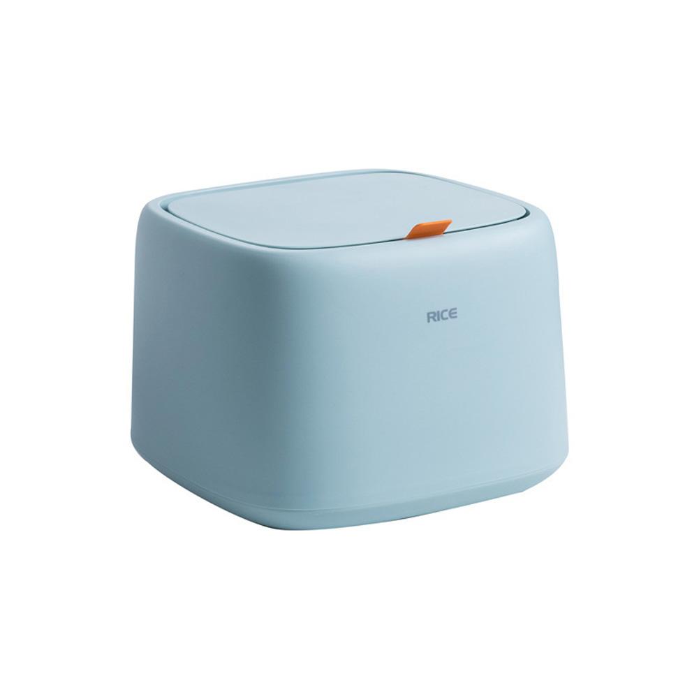 Large Capacity Sealed Storage Box Rice Storage Bucket Pet Dry Food Storage Organizer Light blue