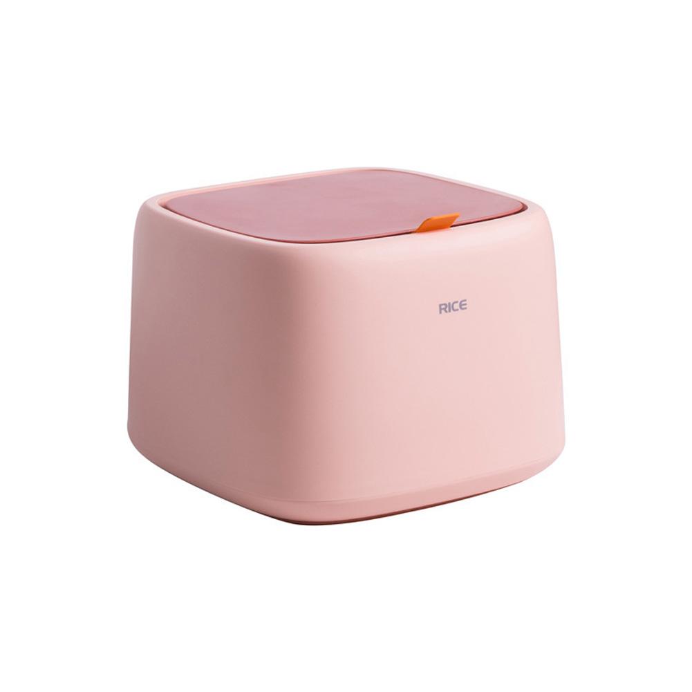 Large Capacity Sealed Storage Box Rice Storage Bucket Pet Dry Food Storage Organizer Orange