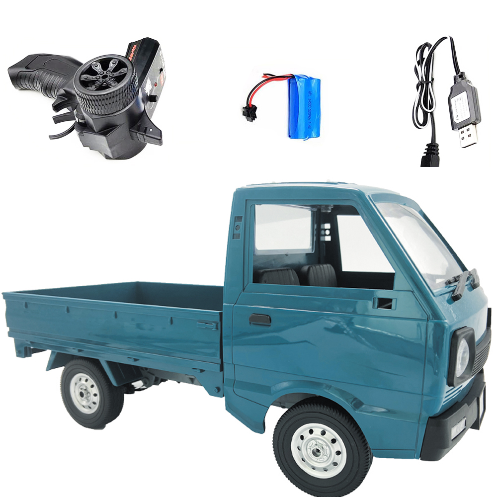 Wpl D12 1/10 2wd Rc  Car Simulation Drift Truck Brushed 260 Motor Climbing Car Led Light On-road Rc Car Toys For Boys Kids Gifts 1 battery