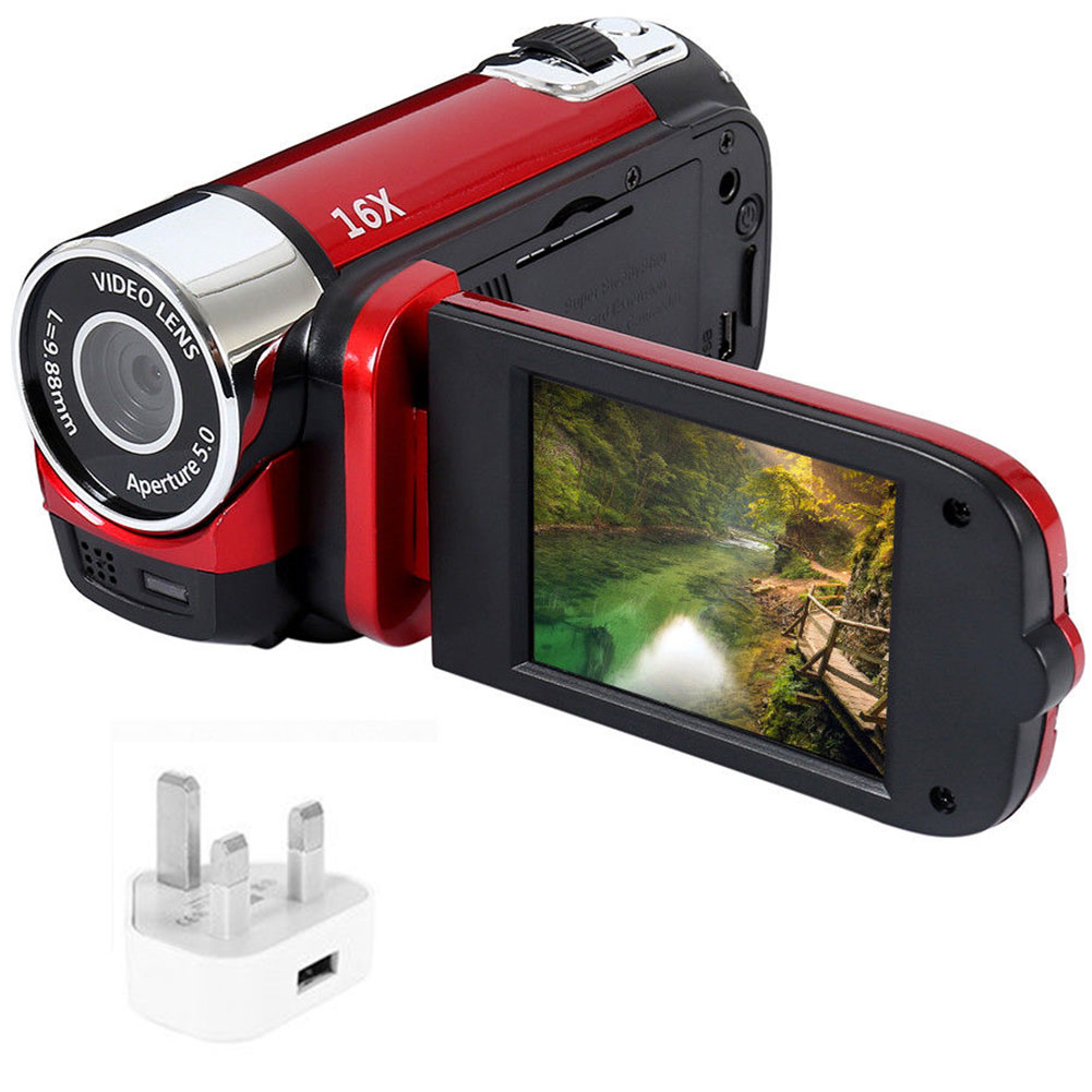 1080P HD Night Vision Anti-shake Wifi DVR Professional Video Record Digital Camera Camcorder  red_UK plug