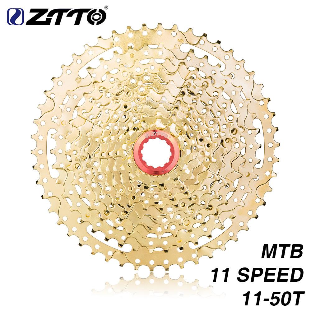 ZTTO MTB 11 Speed Cassette 11 s 11-50 t  UltraLight Freewheel Mountainbike Cassette Flywheel 11-speed 50T black gold gold L