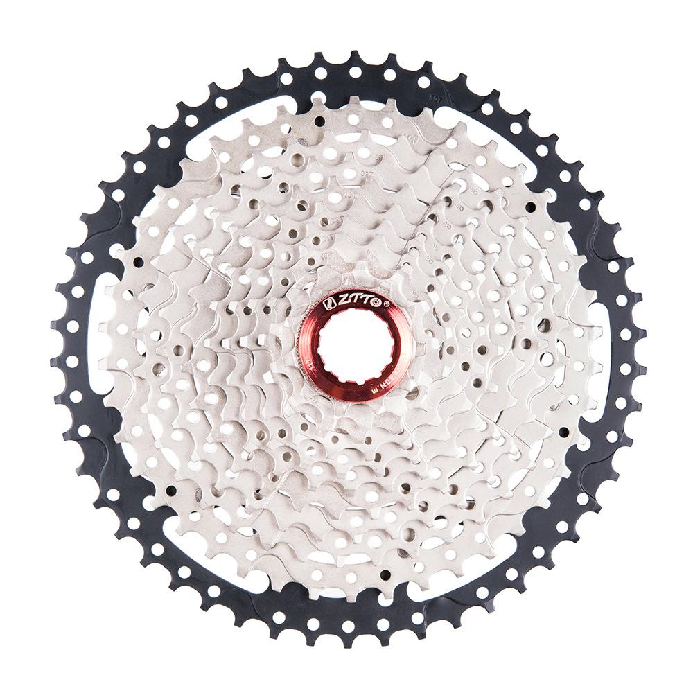 ZTTO MTB 11 Speed Cassette 11 s 11-50 t  UltraLight Freewheel Mountainbike Cassette Flywheel 11 speed 50T black silver