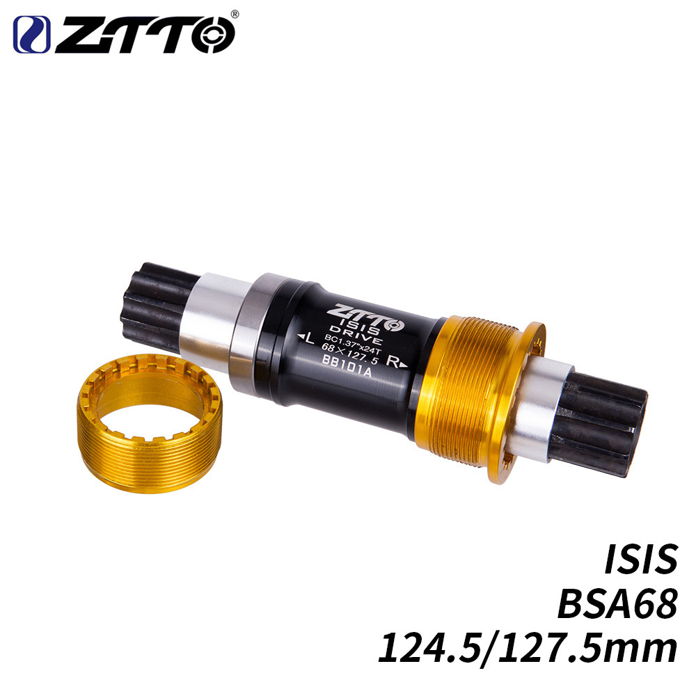 ZTTO Bike ISIS Bottom Bracket 124.5mm 127.5mm BSA68 Bicycle BB for Small Wheel Bicycle BB101A 124.5mm