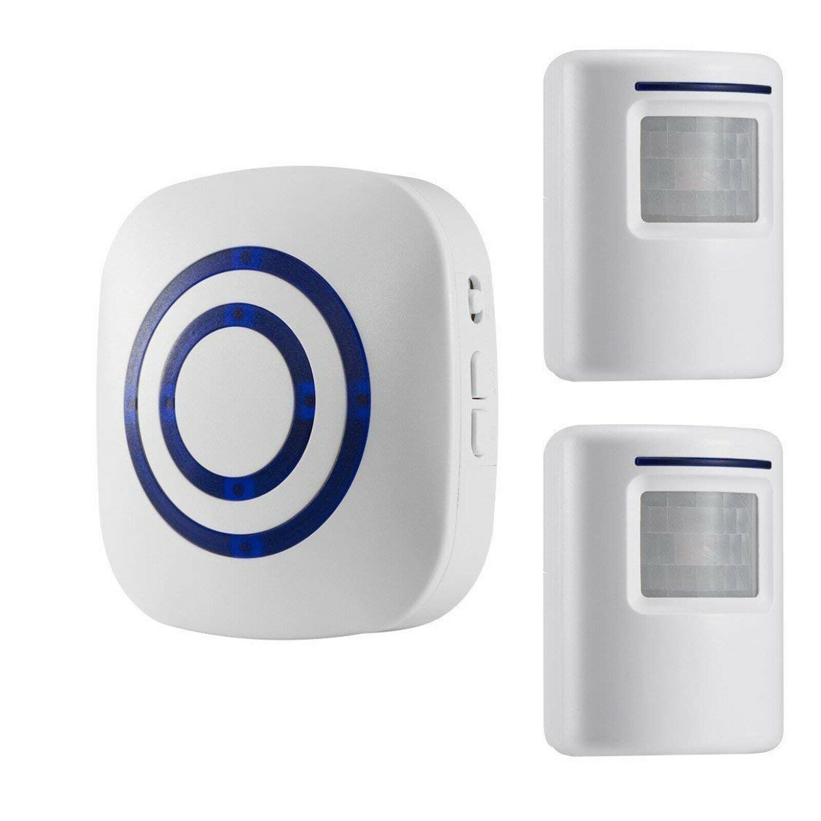 Infrared Human Body Induction Doorbell Wireless Welcome Plug-in Two-part Doorbell white