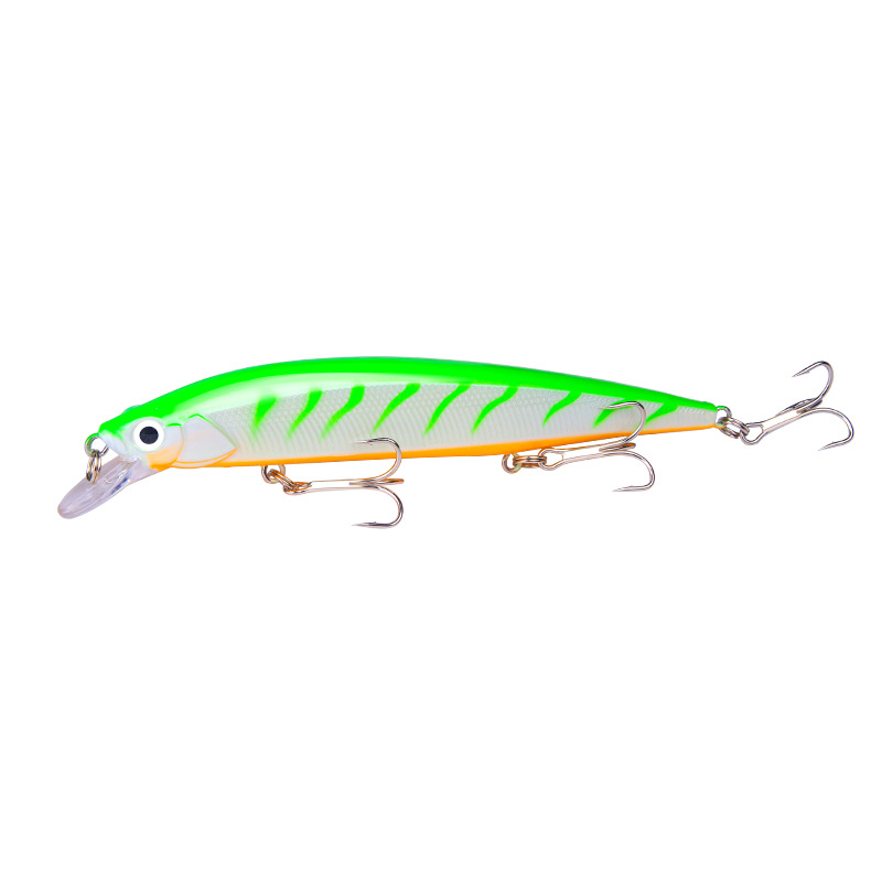 3D Eyes Lead Minnow Type 14cm / 18.3g 9 Colors Top Water Fishing Lures Bass Artificial Bite 2#