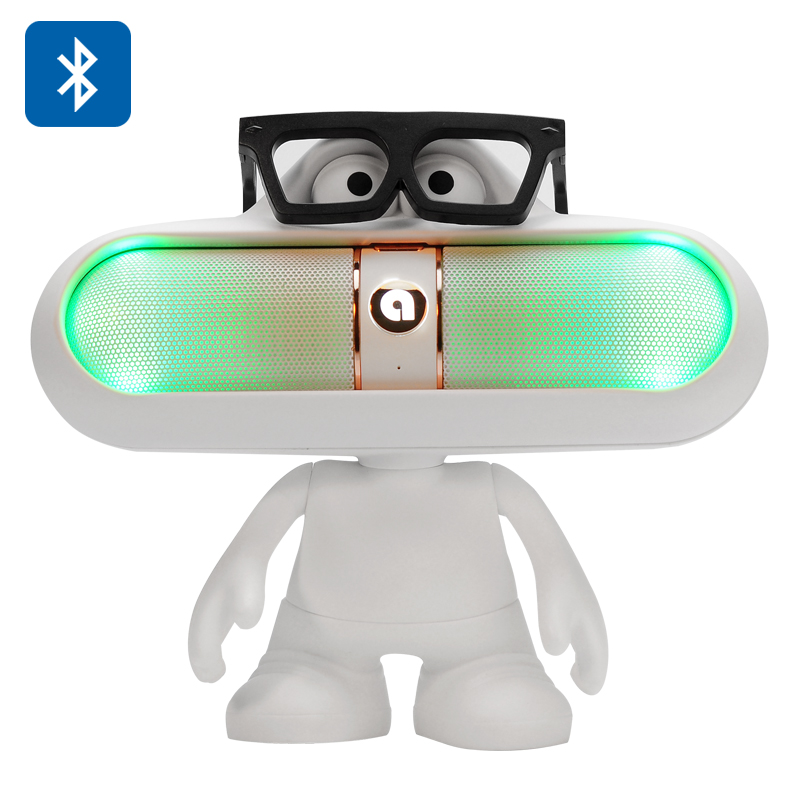 Dude Doll Bluetooth Speaker + Light (White)