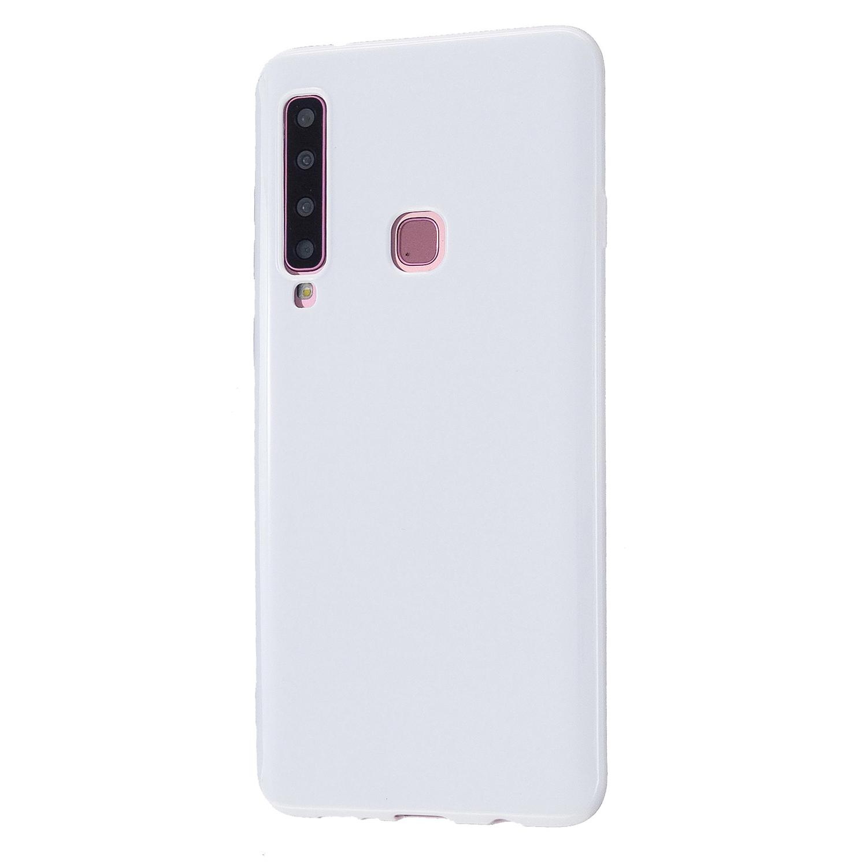 For Samsung A7 2018/A920 Smartphone Case Soft TPU Precise Cutouts Anti-slip Overal Protection Cellphone Cover  Milk white