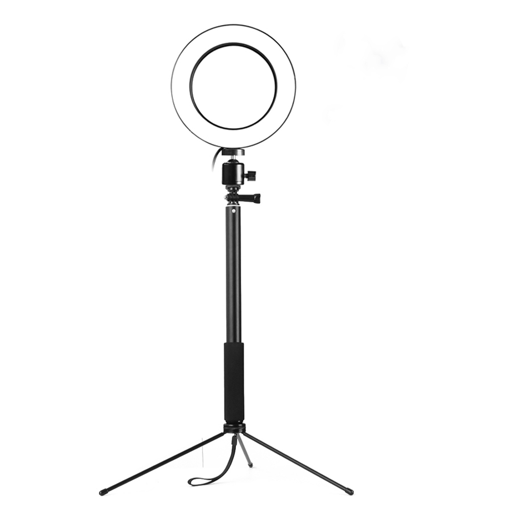 3 in 1 LED Ring Light Black 26CM