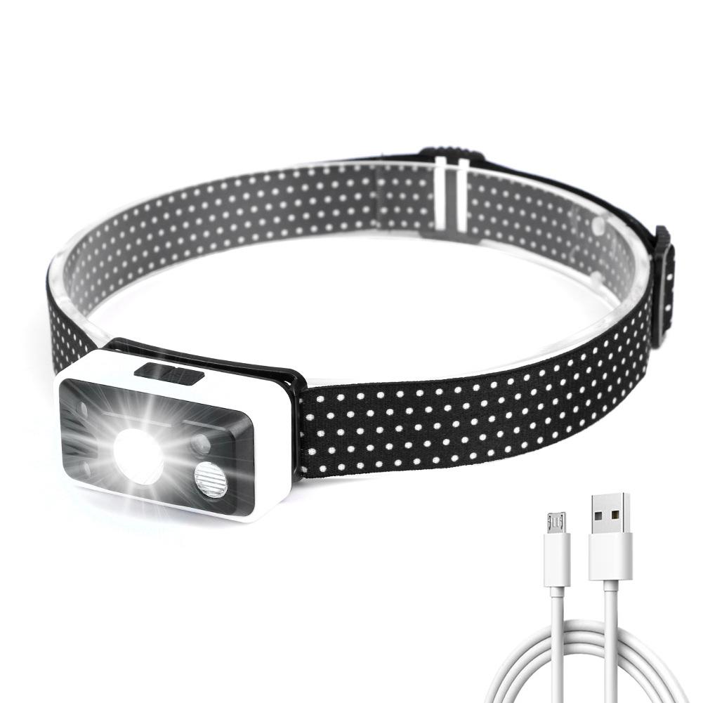 Usb Rechargeable Sensor  Headlight Xpg Led Night Fishing Outdoor Riding Mini Waterproof Headlight as picture show